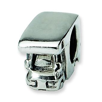 Sterling Silver Polished Antique finish Reflections Rv Camper Bead Charm