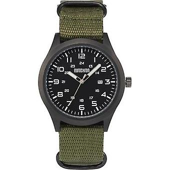 Quartz Wrist watch EQAU 2701 (Ø x H) 43 mm x 11 mm Anthracite Enclosure material=Stainless steel Material (watch strap)=