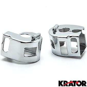 Chrome Handlebar Switch Housings Control Cover Kit For All Kawasaki Vulcan 1600 All Models