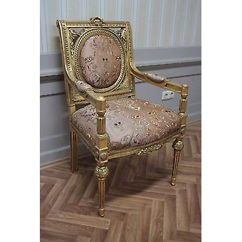 Antique dining chair, baroque, blow gold, MkCh0143