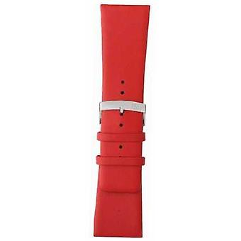 Morellato Strap Only - Large Napa Leather Red 20mm A01X3076875083CR20 Watch