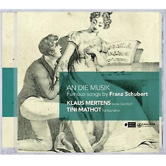 R. Schubert - An Die Musik: Berømte sange af Franz Schubert [CD] USA import