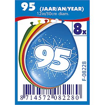 Colorful balloons balloon number 95 birthday 8 St. decoration balloons party