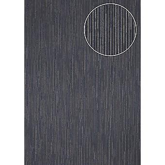 Fine stripe wallpaper Atlas COL-558-2 non-woven wallpaper structured with structure shimmering blue violet blue gold 5.33 m2