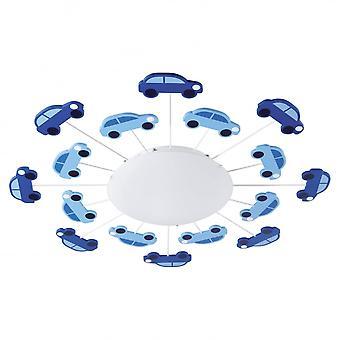 Eglo Viki blauwe jongens kamer lichte auto 's