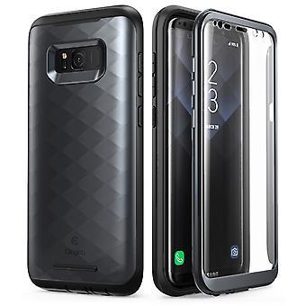Samsung Galaxy S8 ärende, Clayco Hera serien Full body robust ärende med inbyggt skärmskydd för Samsung Galaxy S8