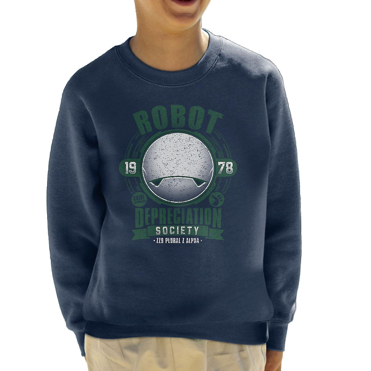 Robot Depreciation Society Hitchhikers Guide Kid's Sweatshirt