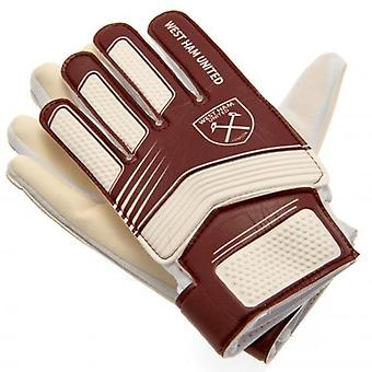 West Ham United Goalkeeper Gloves Youths