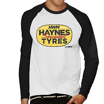 Haynes Brand HWM Specialist Tyres Men's Baseball Long Sleeved T-Shirt