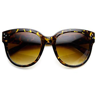 Womens Large Oversized Fashion Horn Rimmed Sunglasses