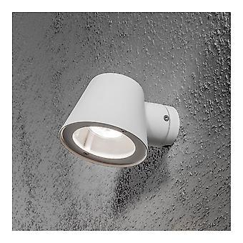 Konstsmide Trieste White Saucer Down Wall Light