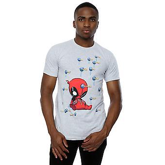 Marvel Deadpool Cartoon Knockout T-Shirt homme