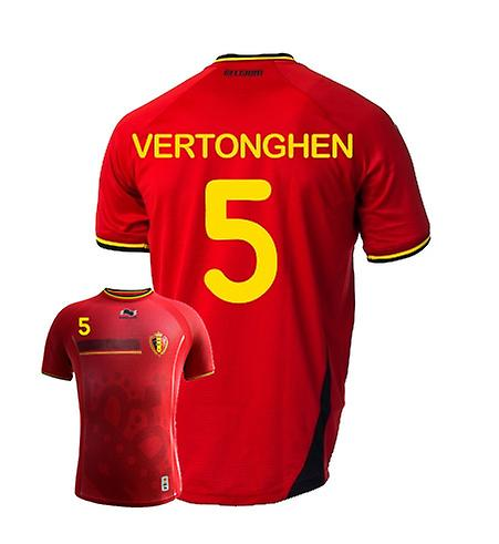 2014-15 Belgium World Cup Home Shirt (Vertonghen 5)