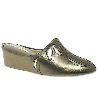 Relax Slippers Molly Pewter Leather Slipper