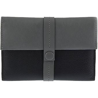 Dents Block Colour Passport Holder - Grey/Black