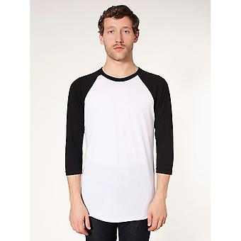 American Apparel Unisex Contrast 3/4 Length Sleeve T-Shirt