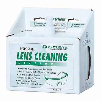 Portwest - Lens Cleaning Station With 600 Low Lint Lens Cleaning Towelettes