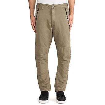 G-Star Burmans 3D Loose Tapered Green Reverse Linen Slub OD Chinos