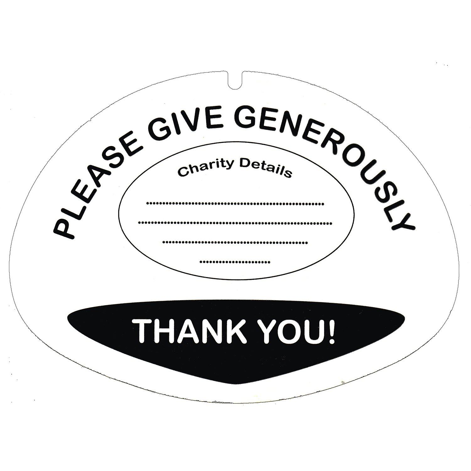 10 Lid Labels For Charity Collection Buckets Fruugo