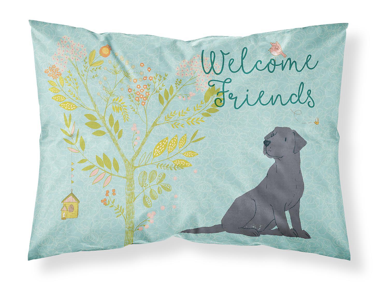 Retriever Labrador Noir Standard Amis Taie Tissu D'oreiller Bienvenue xoBedC