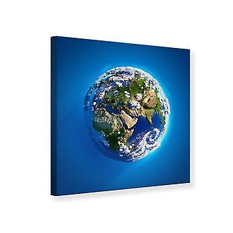 Lærred Print planeten jorden