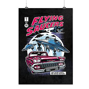 Matte or Glossy Poster with Flying Saucers Fashion | Wellcoda | *d2568