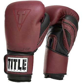 Title Boxing Ali Authentic Hook and Loop Leather Training Boxing Gloves - Maroon