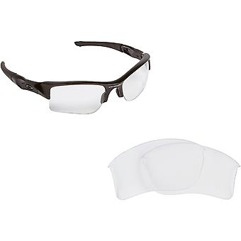Best SEEK Replacement Lenses for Oakley Sunglasses FLAK JACKET XLJ Crystal Clear