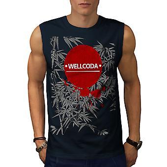 Japan Art Design Men NavySleeveless T-shirt | Wellcoda
