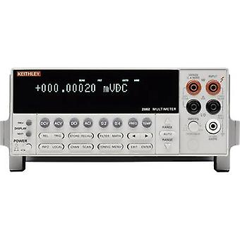 Bench multimeter Digital Keithley 2002 Calibrated to: Manufacturer's standards (no certificate) Display (counts): 1000