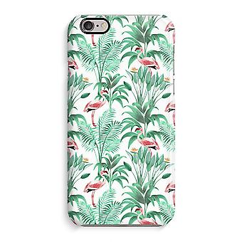 iPhone 6 / 6S Full Print Case (Glossy) - Flamingo leaves