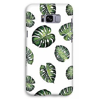 Samsung Galaxy S8 Plus Full Print Case (Glossy) - Tropical leaves