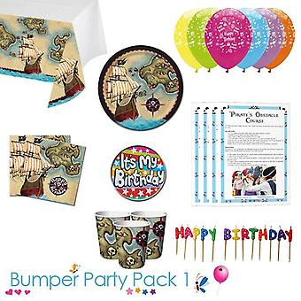 Pirate's Map Party Tableware Bumper Pack 1