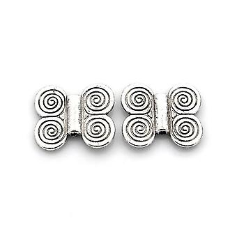 Packet 10 x Antique Silver Tibetan 17 x 20mm Butterfly Beads HA17095