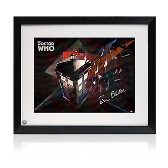 Tom Baker Signed And Framed Dr Who Tardis Poster