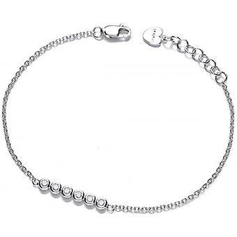 Cavendish French Bubble Row Cubic Zirconia Bracelet - Silver