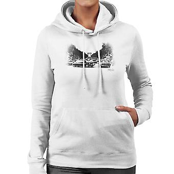 Citroen DS Faded Effect Paris Arc De Triomphe Women's Hooded Sweatshirt