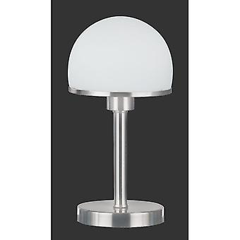 Trio Lighting Joost Classic Nickel Matt Metal Table Lamp