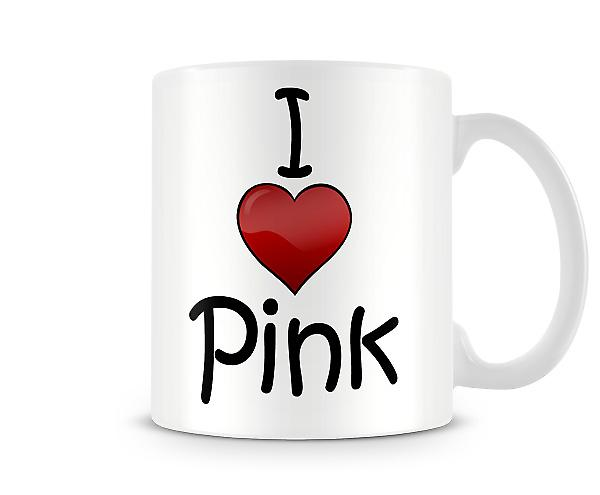 I Love Pink Music Printed Mug