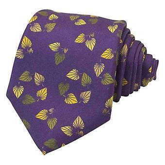 40 Colori Birch Printed Silk Tie - Purple