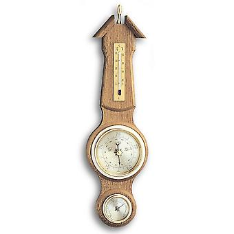 Weather station wall decoration weather station oak solid wall thermometer