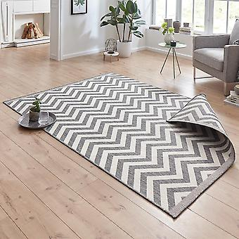 Dreje tæppe Palma grå i- & udendørs