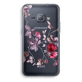 Samsung Galaxy J1 (2016) Transparent Case (Soft) - Pretty flowers