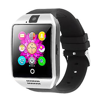 Stuff Certified ® Q18 original SmartWatch HD Curved OLED Smartphone Watch Silver iOS Android