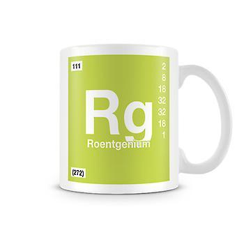 Wetenschappelijke bedrukte Mok met Element symbool 111 Rg - Roentgenium