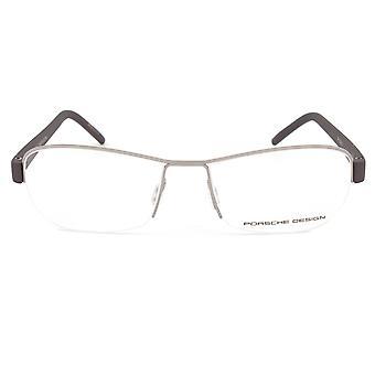 Porsche Design P8211 C Rectangular | Gunmetal/Aubergine| Eyeglass Frames