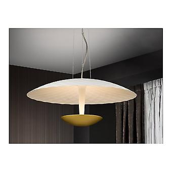 Schuller Art Deco White And Gold Hanging LED Ceiling Light Pendant