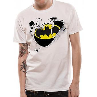 Batman - rozdarty T-Shirt z Logo (Unisex)