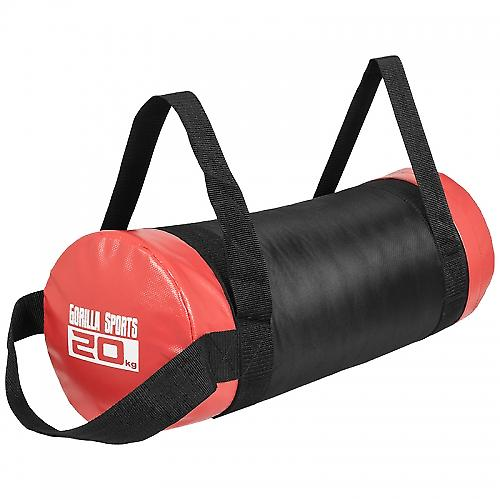 Fitness bag noir/rouge - Sac lest� 20kg