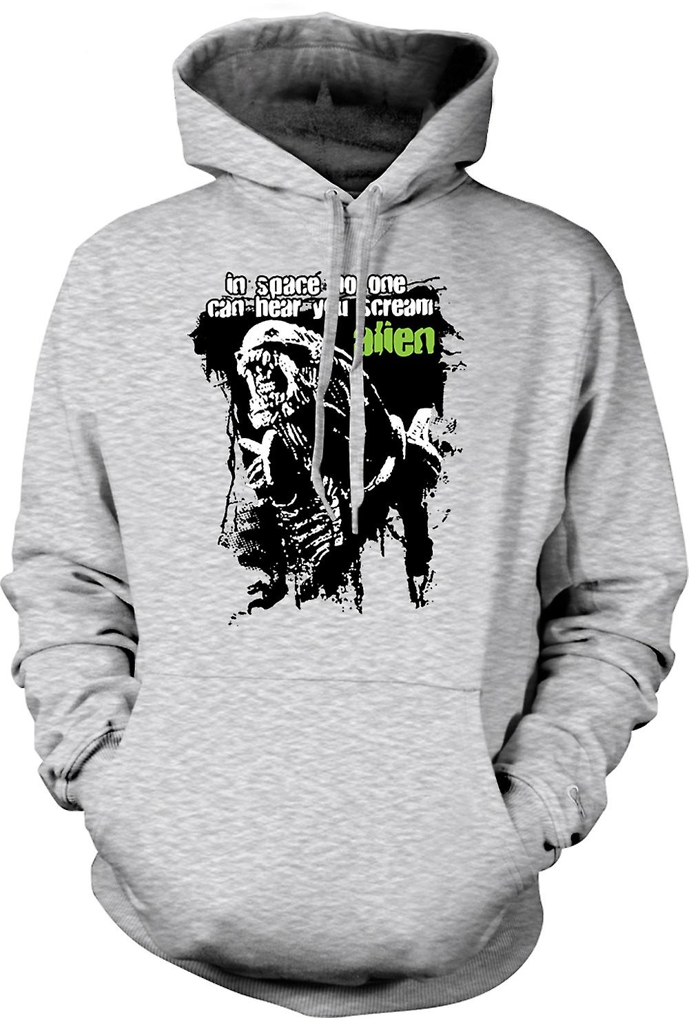 Mens Hoodie - Hear You Scream Alien - Sci Fi